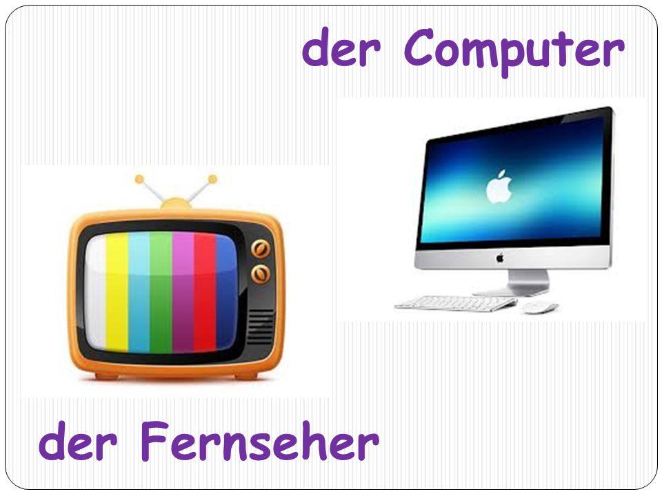 der Computer der Fernseher