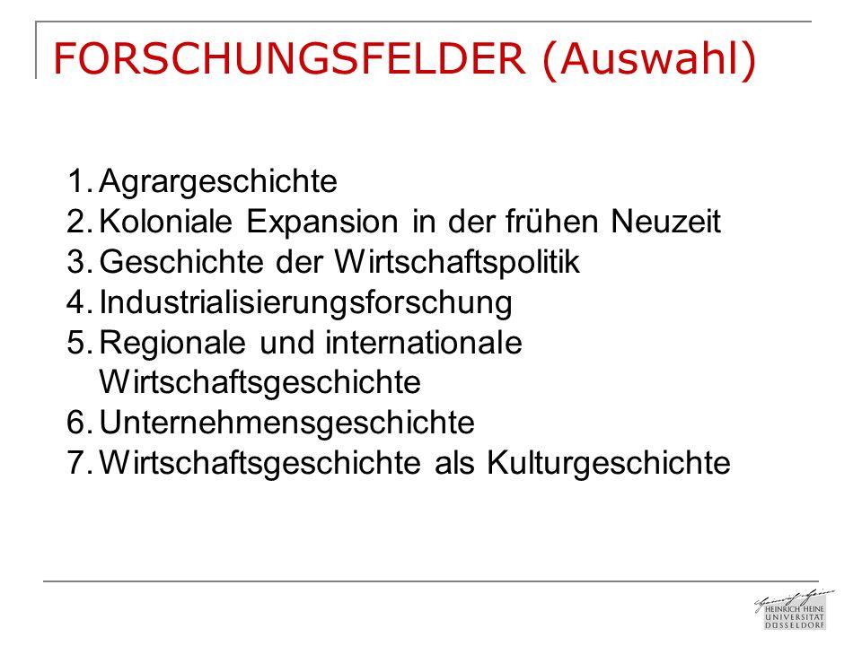 FORSCHUNGSFELDER (Auswahl)