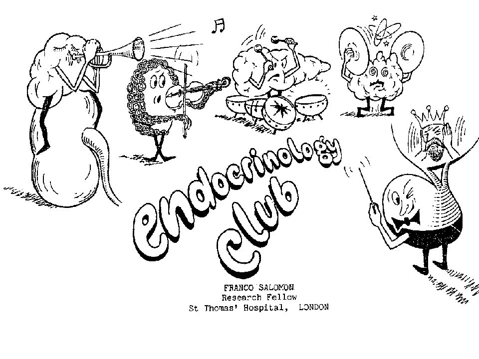 Cartoon Endocrine Concert einscannen