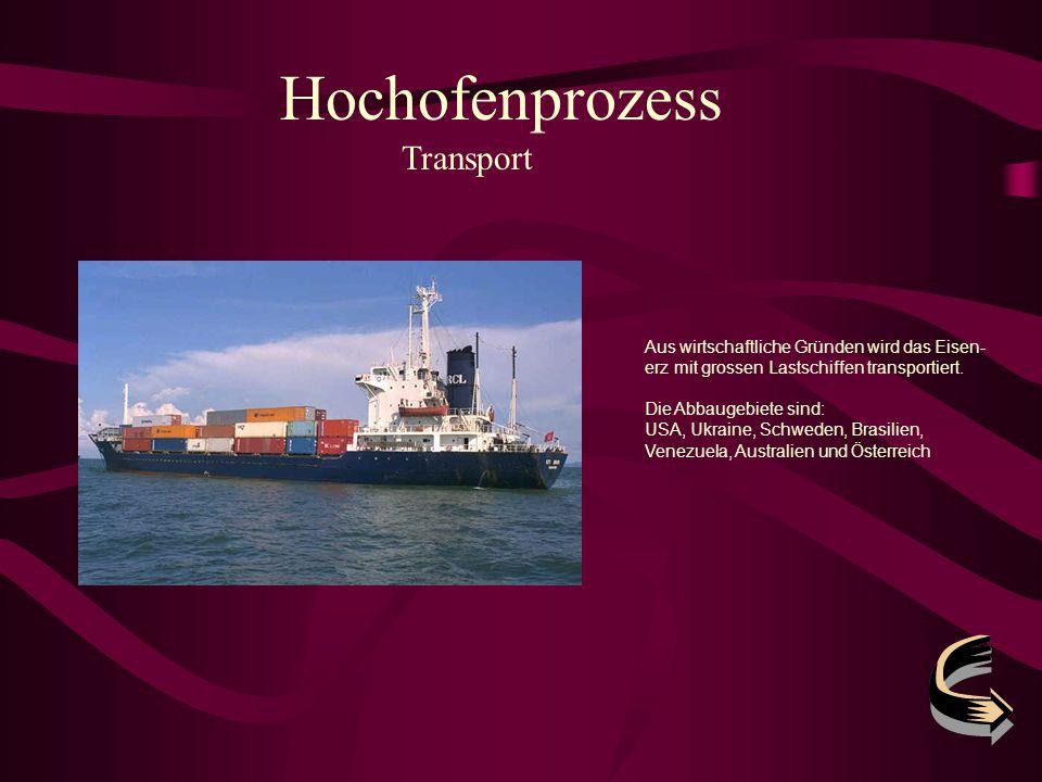 Hochofenprozess Transport