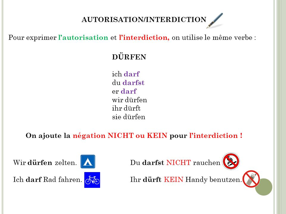 AUTORISATION/INTERDICTION