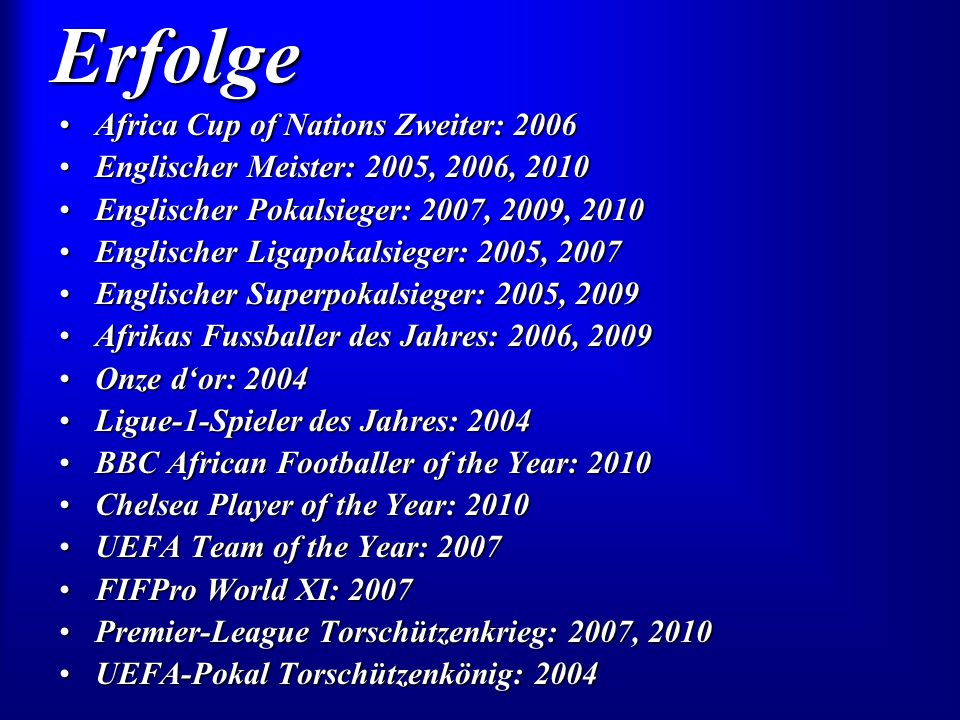 Erfolge Africa Cup of Nations Zweiter: 2006