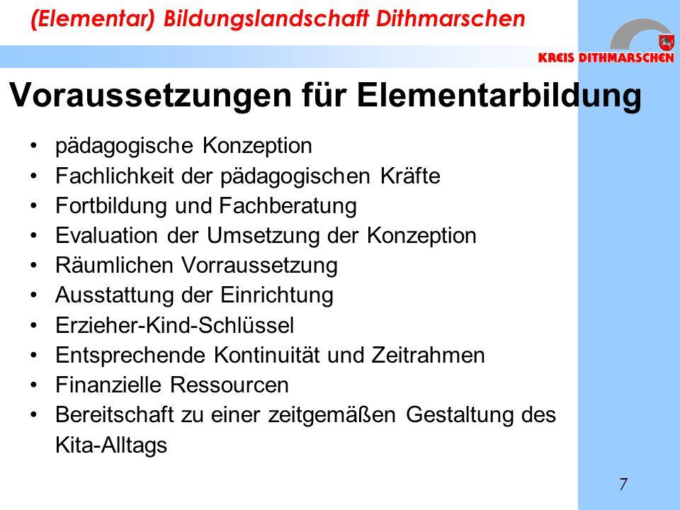 Voraussetzungen für Elementarbildung