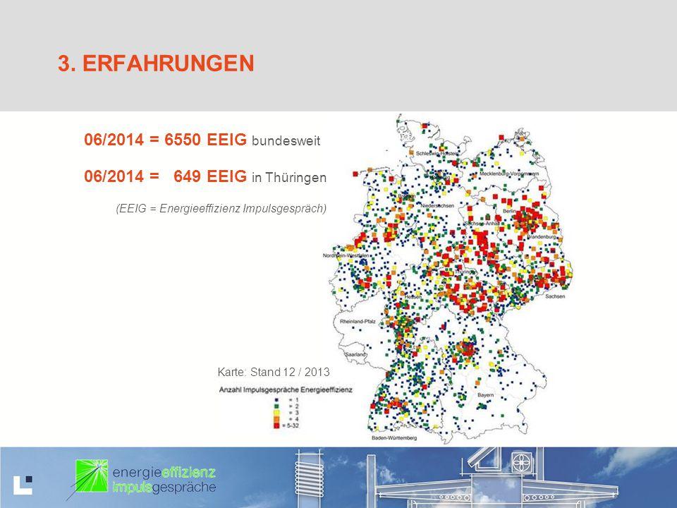 3. Erfahrungen 06/2014 = 6550 EEIG bundesweit