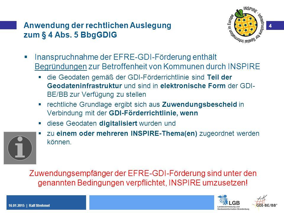 Anwendung der rechtlichen Auslegung zum § 4 Abs. 5 BbgGDIG