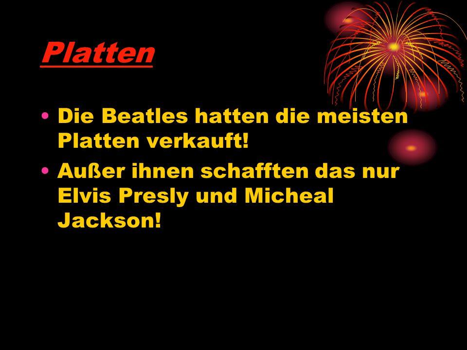 Platten Die Beatles hatten die meisten Platten verkauft!