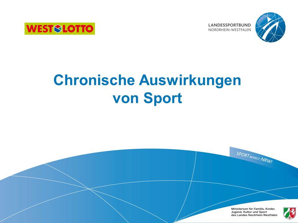 Chronische Auswirkungen von Sport