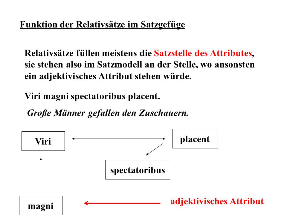 Funktion der Relativsätze im Satzgefüge