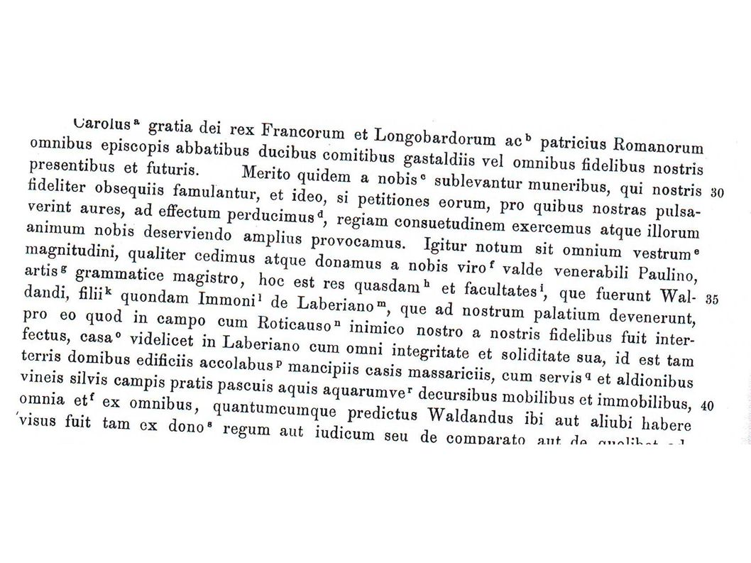 Urkunde 776 Paulinus von Aquileja
