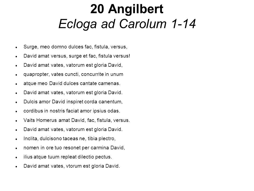 20 Angilbert Ecloga ad Carolum 1-14