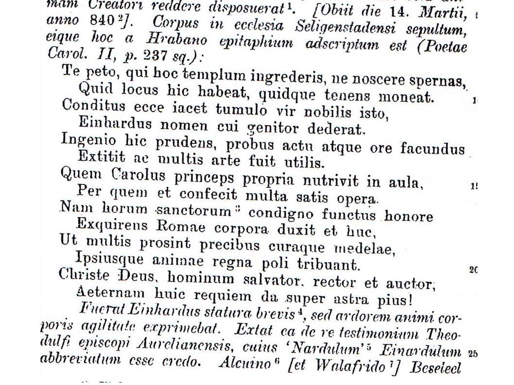 Gedicht Hrabans auf Einhard