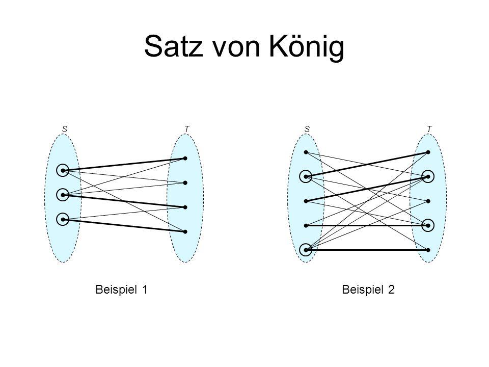 Satz von König S T S T Beispiel 1 Beispiel 2