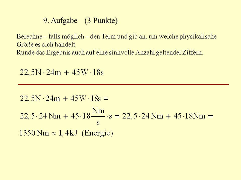 9. Aufgabe (3 Punkte)