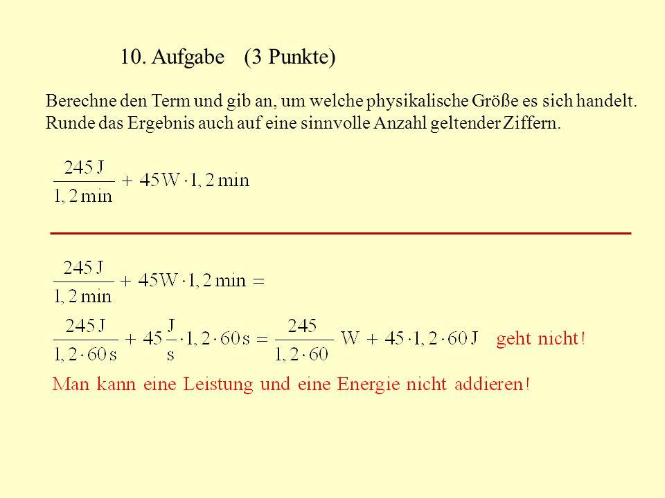 10. Aufgabe (3 Punkte)