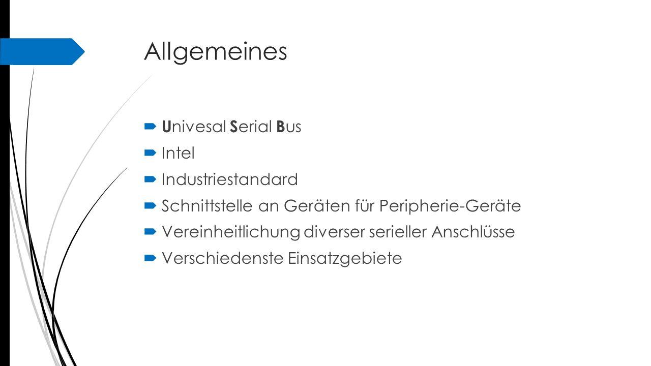 Allgemeines Univesal Serial Bus Intel Industriestandard