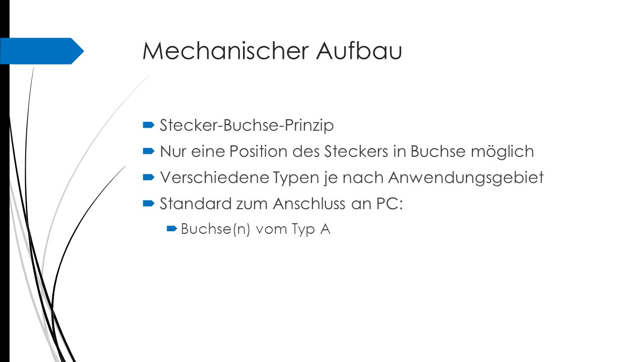 Mechanischer Aufbau Stecker-Buchse-Prinzip