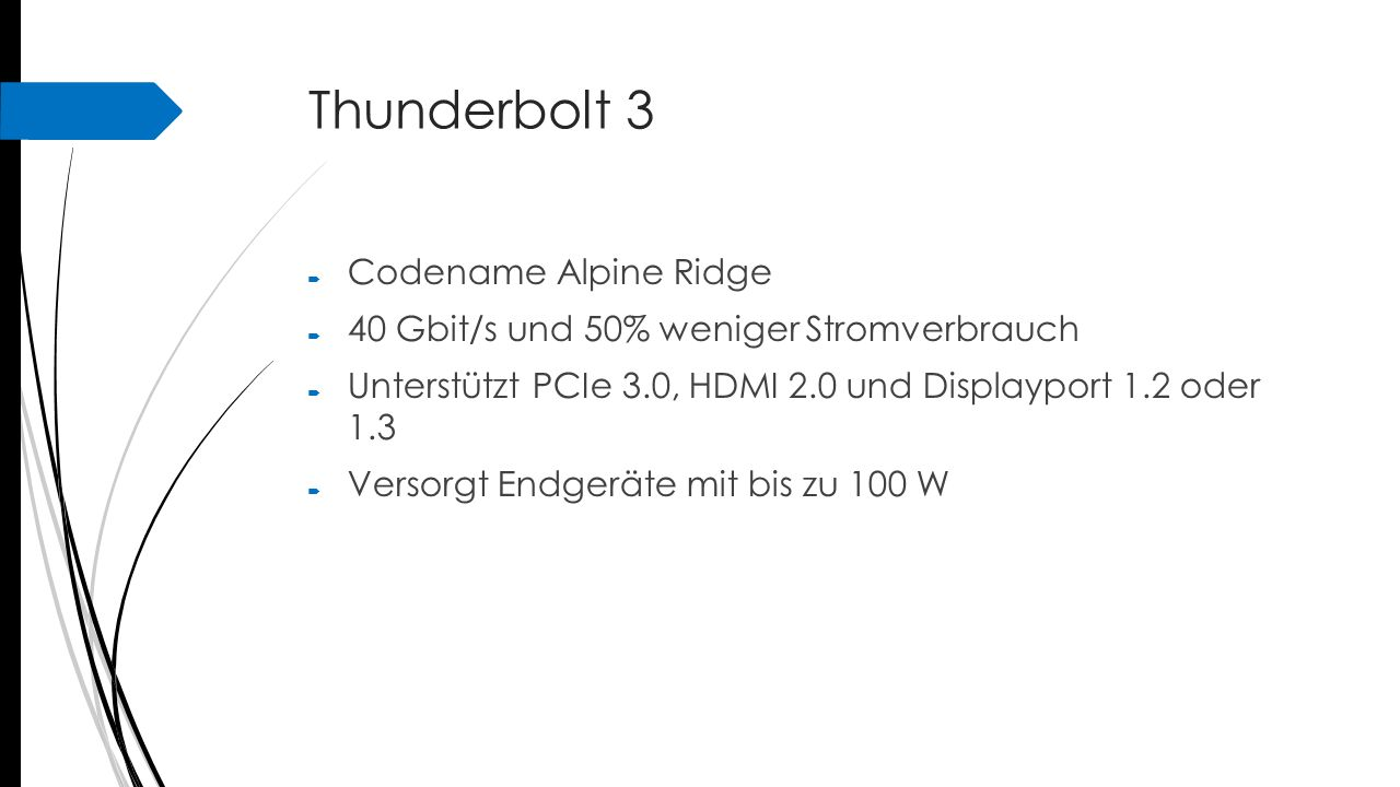 Thunderbolt 3 Codename Alpine Ridge