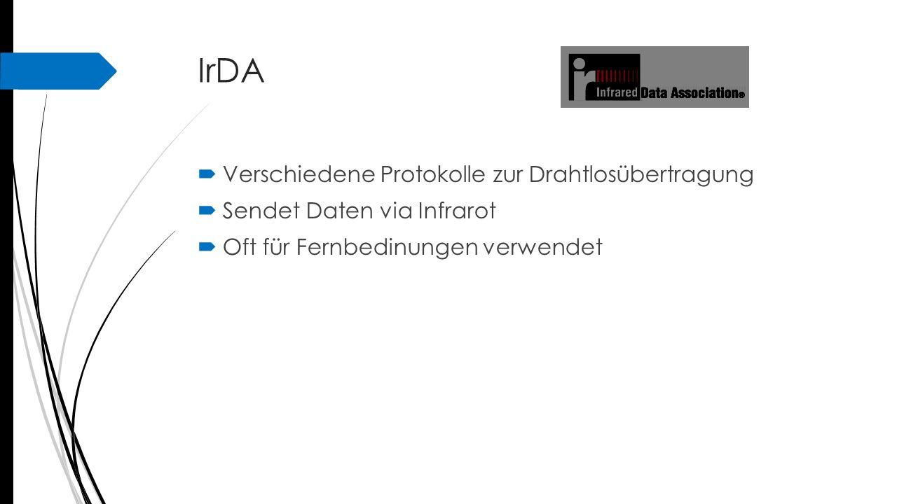 IrDA Verschiedene Protokolle zur Drahtlosübertragung