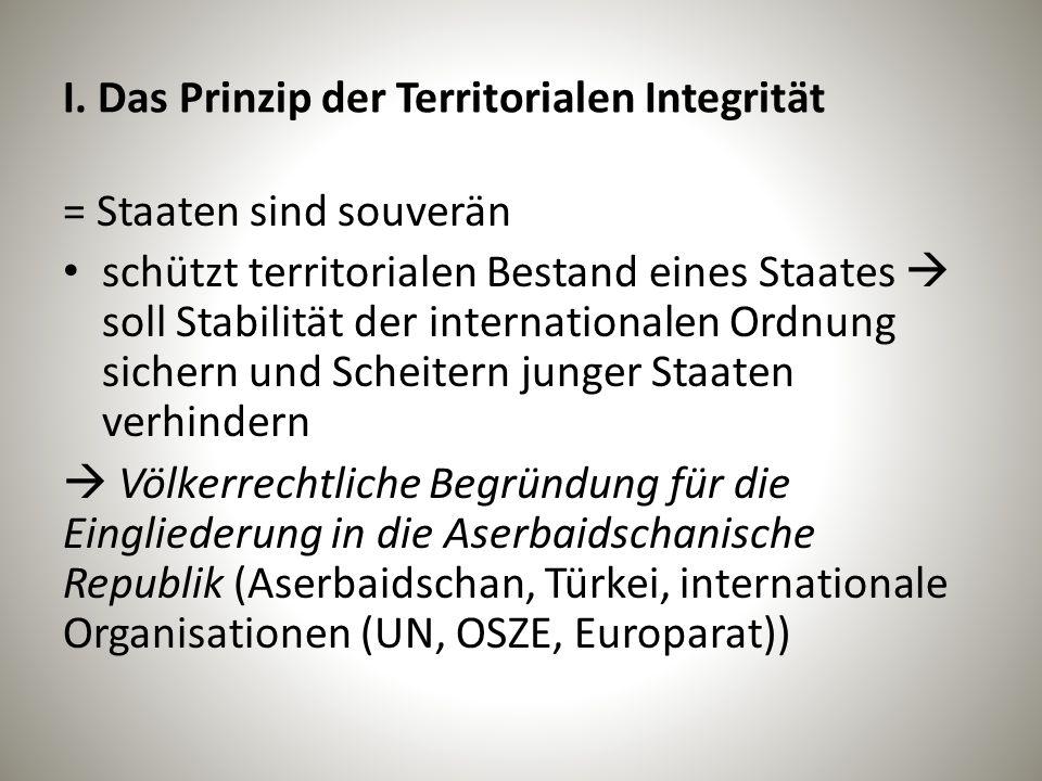 I. Das Prinzip der Territorialen Integrität
