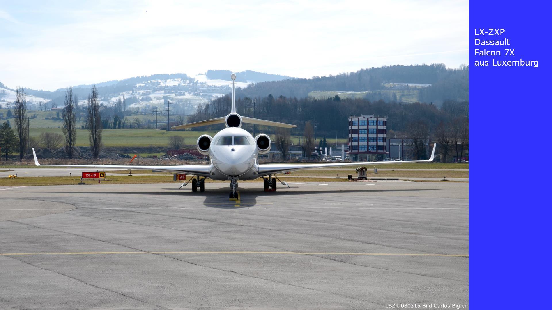 LX-ZXP Dassault Falcon 7X aus Luxemburg