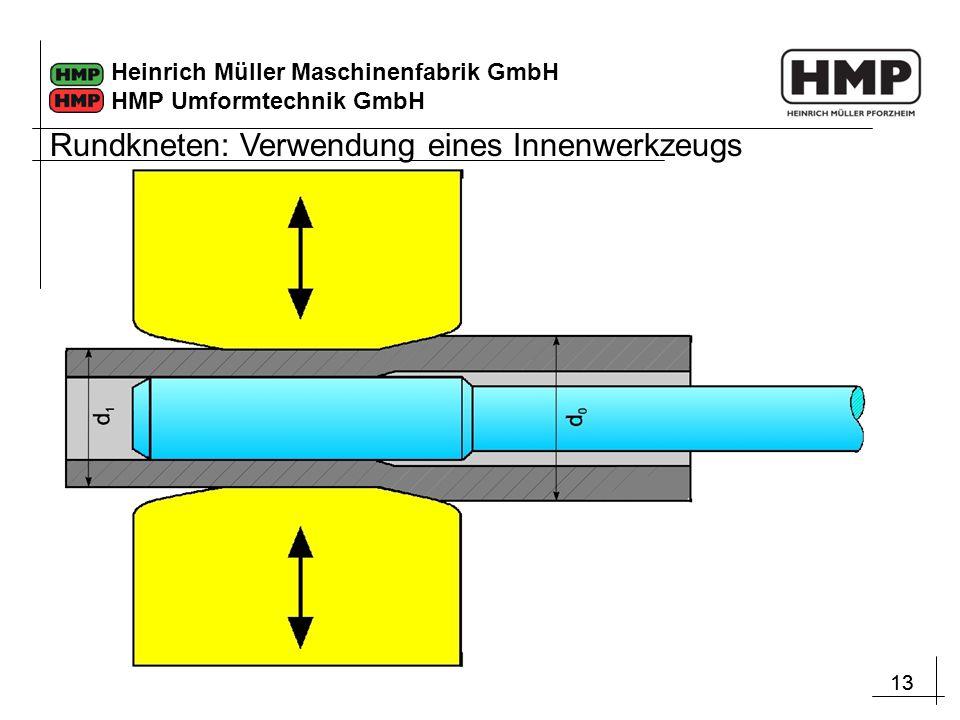 Rundkneten: Verwendung eines Innenwerkzeugs
