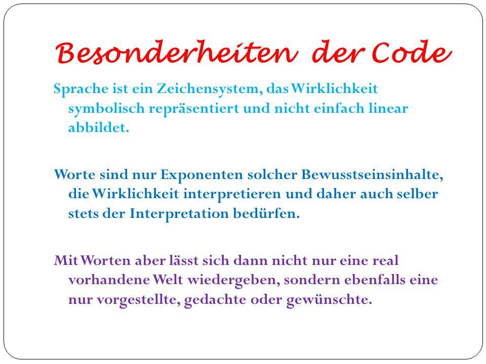 Besonderheiten der Code