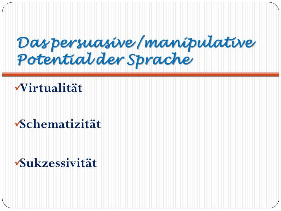 Das persuasive /manipulative Potential der Sprache