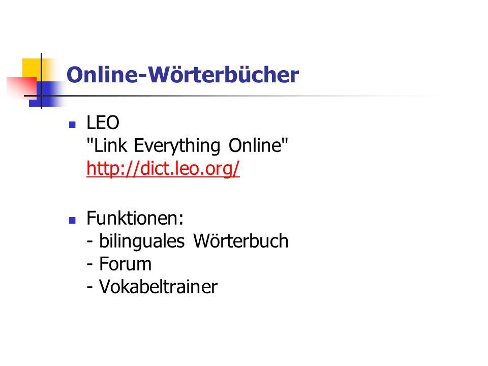Online-Wörterbücher LEO Link Everything Online http://dict.leo.org/