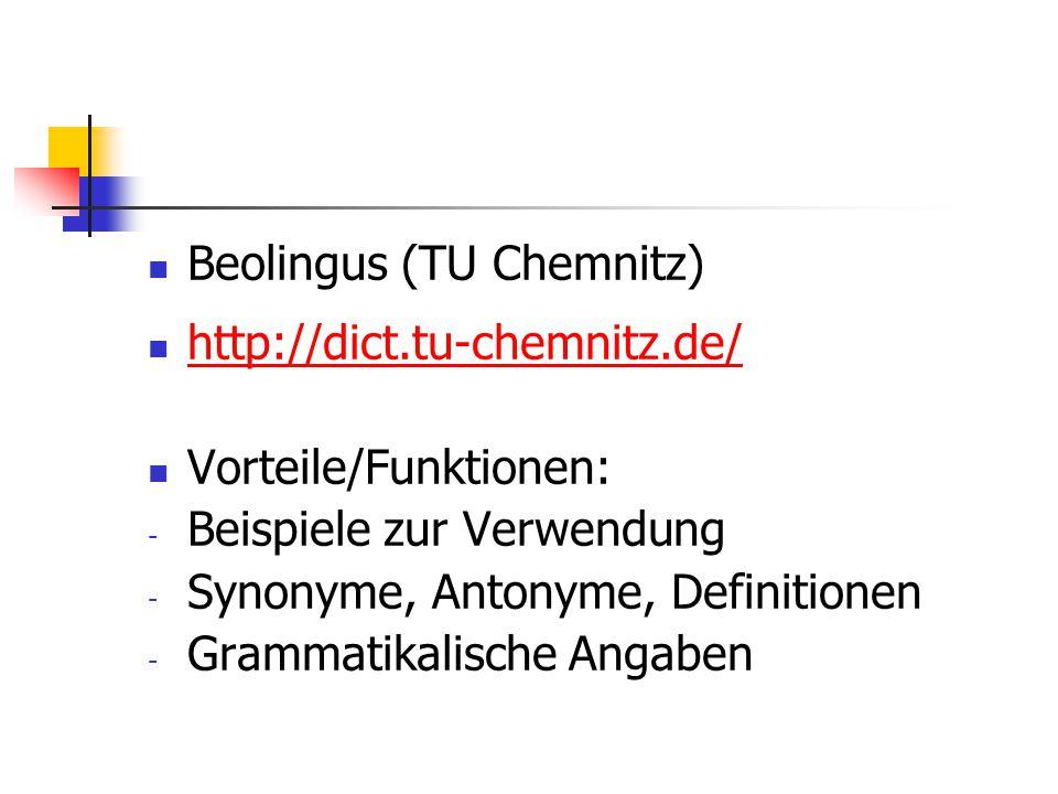 Beolingus (TU Chemnitz)