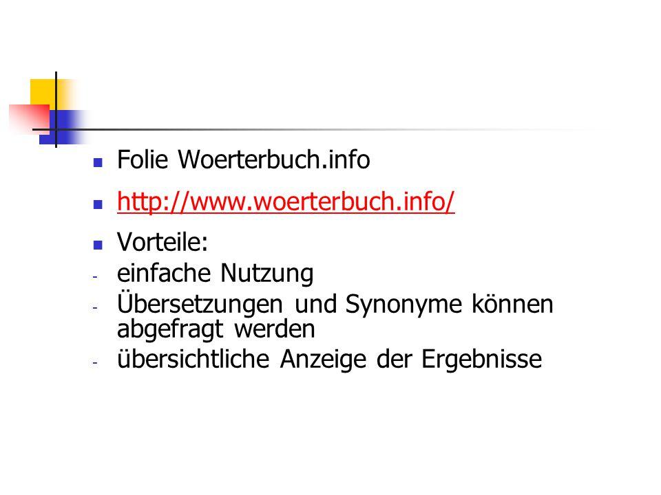 Folie Woerterbuch.info