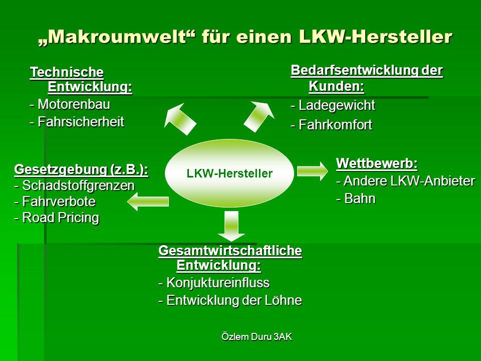 """""""Makroumwelt für einen LKW-Hersteller"""