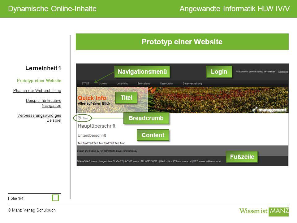 Prototyp einer Website