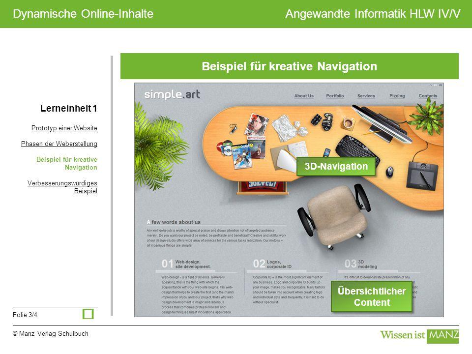 Beispiel für kreative Navigation