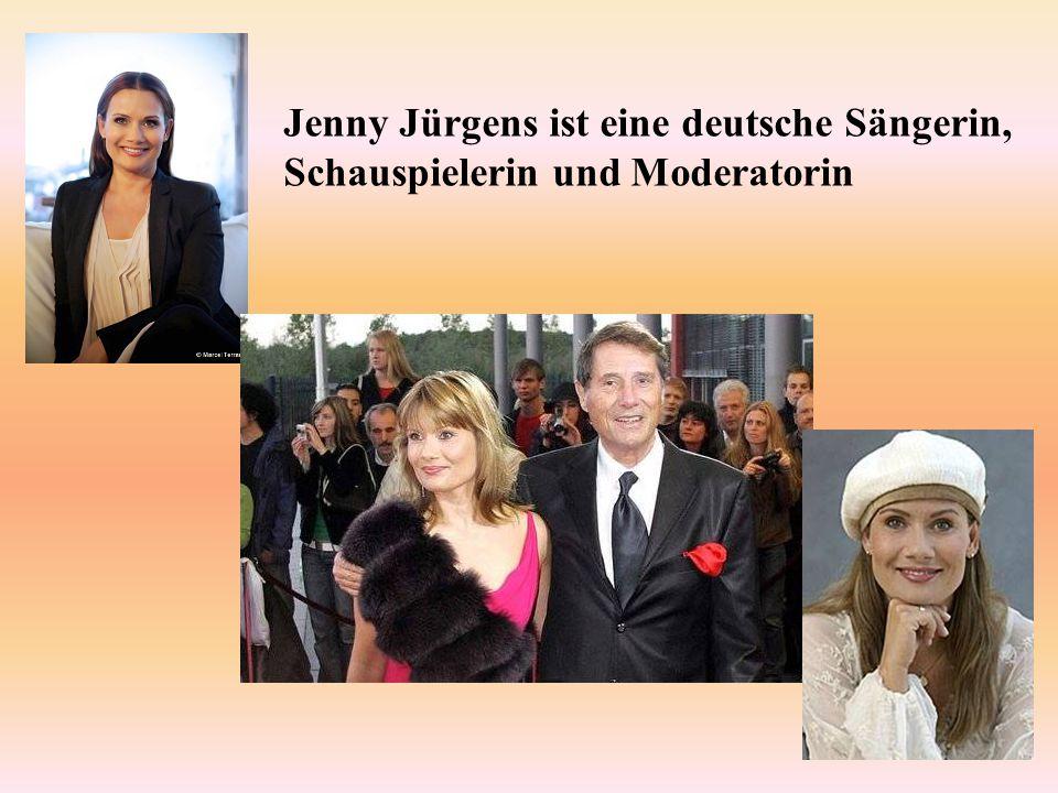 Jenny Jürgens ist eine deutsche Sängerin, Schauspielerin und Moderatorin