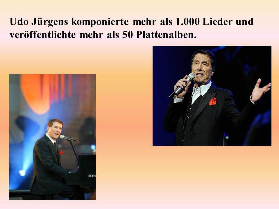 Udo Jürgens komponierte mehr als 1