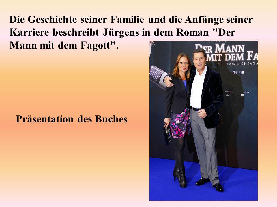 Die Geschichte seiner Familie und die Anfänge seiner Karriere beschreibt Jürgens in dem Roman Der Mann mit dem Fagott .