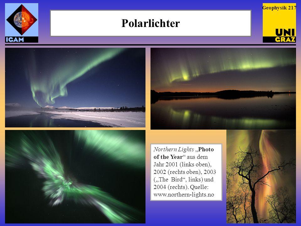 Geophysik 217 Polarlichter.