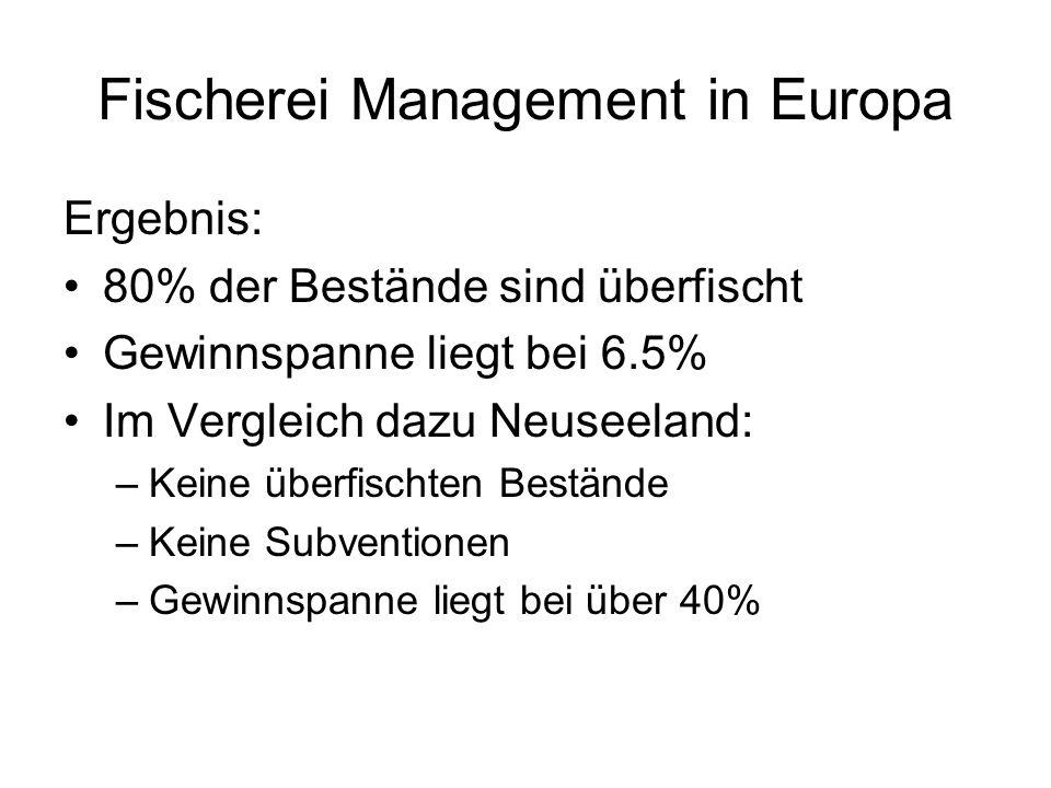 Fischerei Management in Europa