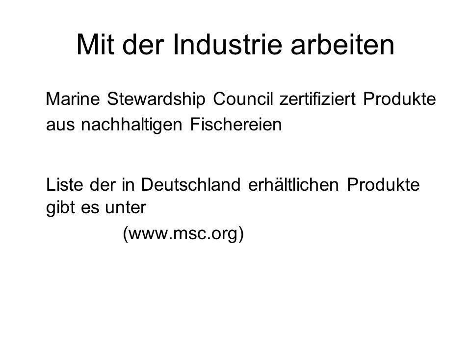 Mit der Industrie arbeiten