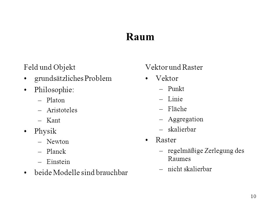 Raum Feld und Objekt grundsätzliches Problem Philosophie: Physik