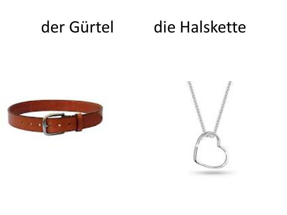 der Gürtel die Halskette