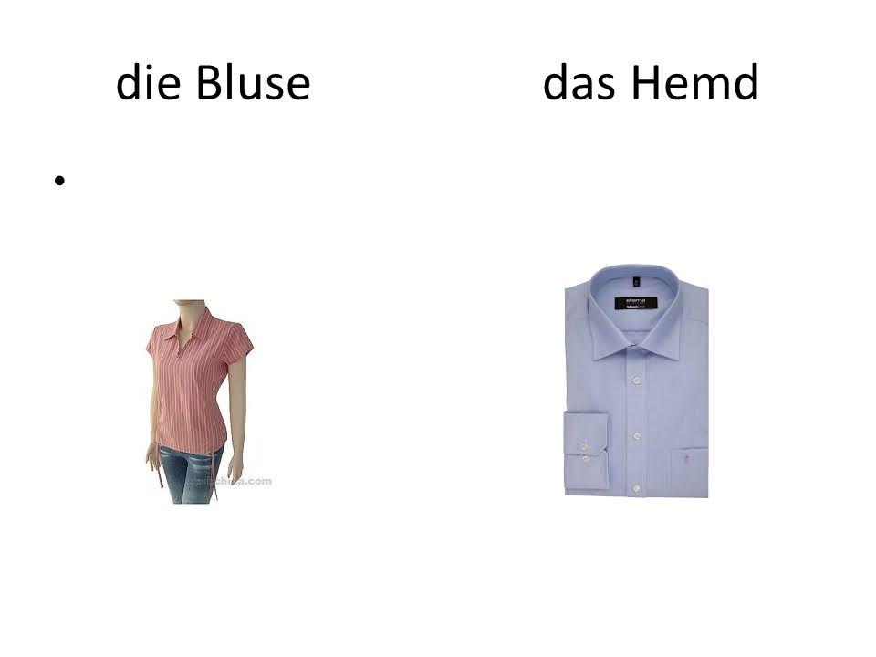 die Bluse das Hemd