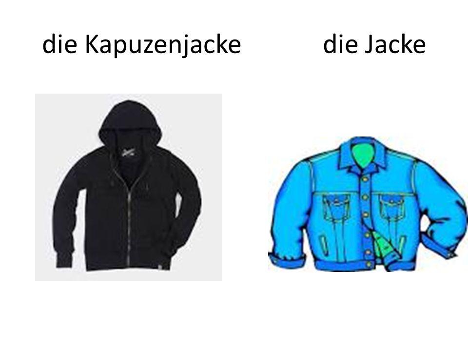 die Kapuzenjacke die Jacke