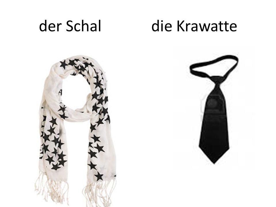 der Schal die Krawatte