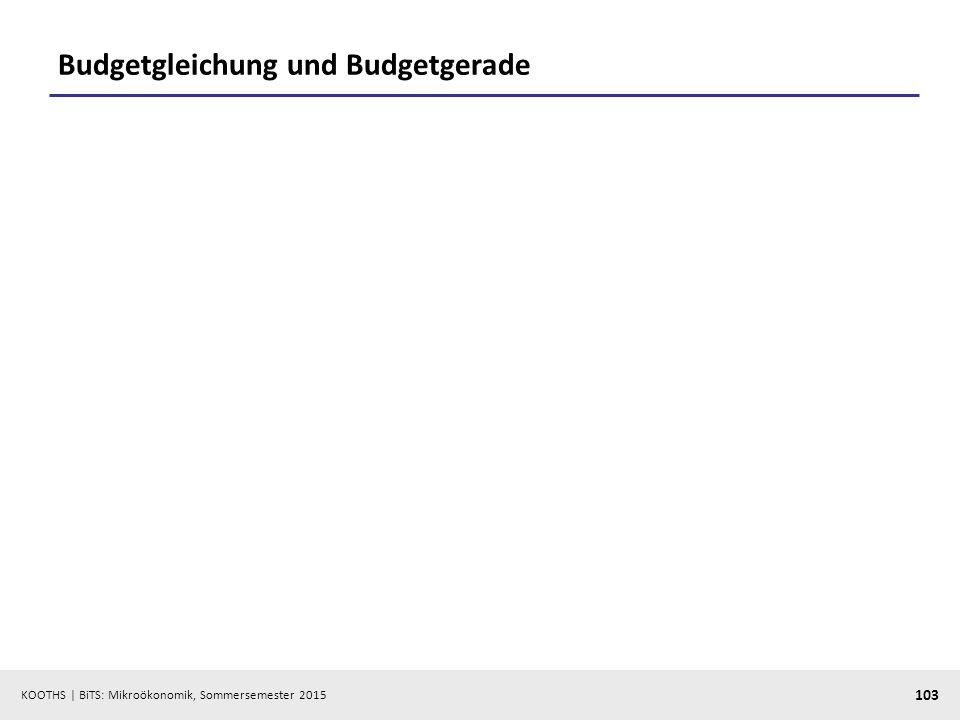 Budgetgleichung und Budgetgerade