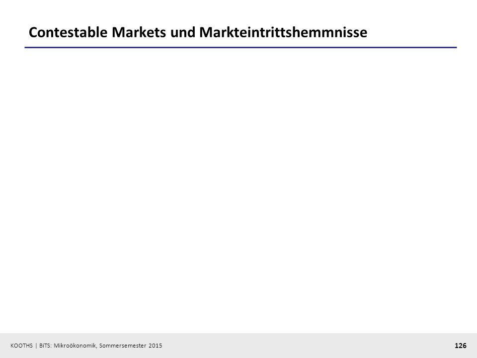 Contestable Markets und Markteintrittshemmnisse
