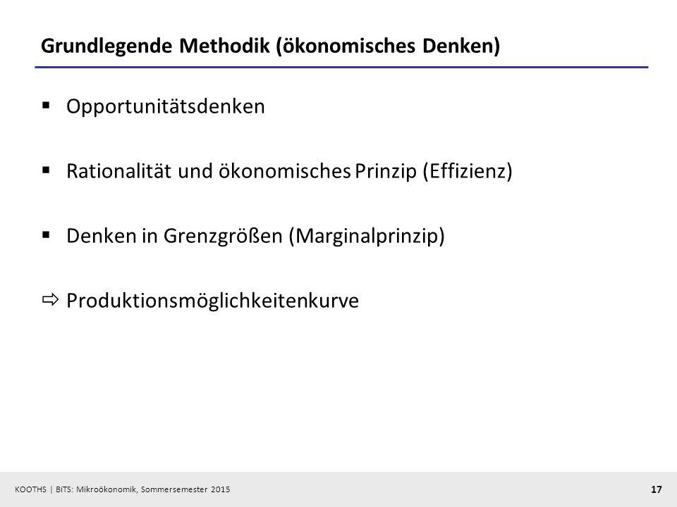 Grundlegende Methodik (ökonomisches Denken)