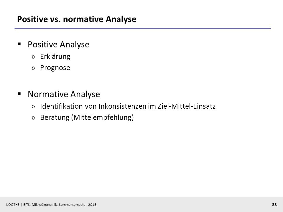 Positive vs. normative Analyse