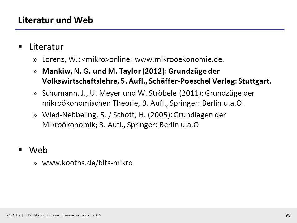 Literatur und Web Literatur Web