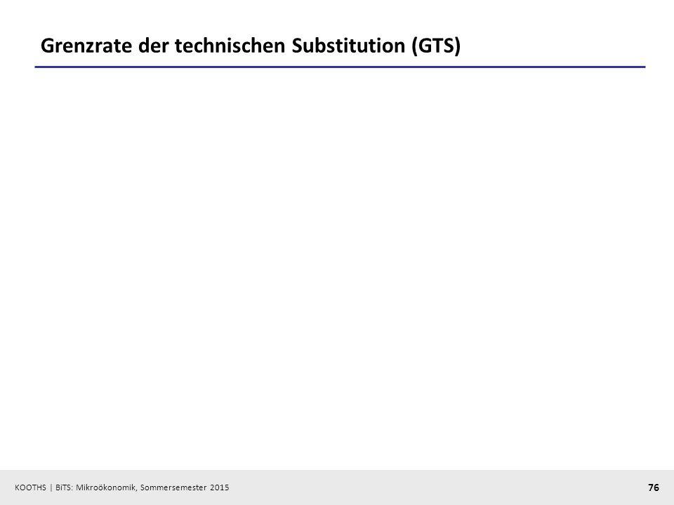 Grenzrate der technischen Substitution (GTS)